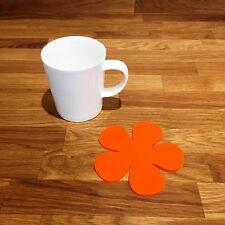 Daisy Shaped Coaster Set - Orange