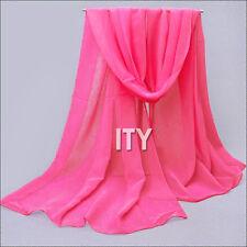 Deep Pink - Chiffon Veils Belly Dance Scarf Neckerchief Hijab VOILE Bollywood