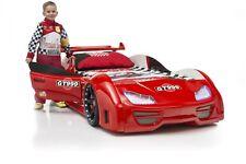 Autobett GT 999 Rot Vollausstattung mit Türen Sound LED - Kinderbett Jugendbett