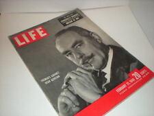 Life, February 21, 1949, Dean Acheson, JATO Test, Yale Basketball, Churchill