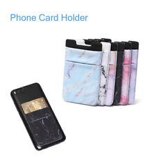 Fashion Lycra Wallet Case Adhesive Sticker Phone Card Holder Cellphone Pocket