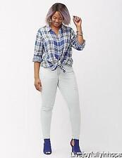 LANE BRYANT ~ NWT NEW! Size 16 22 24 26 or 28 ~ ICE WASH Skinny Crosshatch Jeans