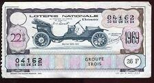 BILLET LOTERIE  L AUTOMOBILE BERLIET 1910   1911