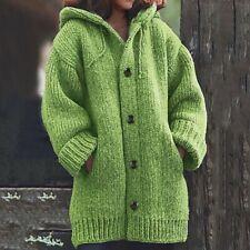 Winter Warm Hooded Women Knit Sweater Cardigan Coat Long Sleeve Outwear Jacket