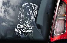 Cavalier King Charles Spaniel - Car Window Sticker - Dog on Board Sign Decal V03