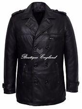 GOODFELLA Black Men's Classic Reefer Nappa Lambskin Leather Coat Jacket 9060