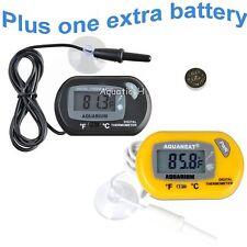 Aquarium Digital Thermometer Fish Tank Salt Water Terrarium with Extra Battery