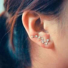 Silver Big Dipper Constellation Ear Pin Ear Sweep Climber Cuff Earrings Jewelry
