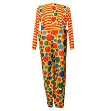 Homme Femme Déguisement Clown Costume Fantaisie Halloween -pour Taille 170-180cm