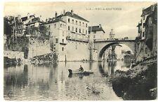 CPA 38 Isère Pont-de-Beauvoisin animé