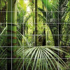 Sticker carrelage mural, faience, déco cuisine ou salle de bain Bambous réf 839
