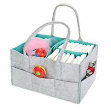 Multifunctional Baby Diaper Wipes Caddy Nursery Bag Nappy Bin Storage Basket