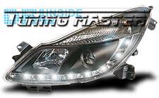 Fari Anteriori Dayline DRL Luci Diurne Opel Corsa D 06-> Neri Omologati CE87