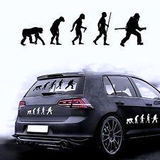 Autoaufkleber Sticker Autofolie Aufkleber Evolution Feuerwehrmann Feuerwehr