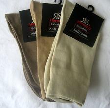 3 Paar Herrensocken Socken ohne Gummi Softrand Extrafein 3 Naturfarben 39 bis 46