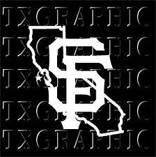 SAN FRANCISCO Giants STICKER CALIFORNIA State Map Vinyl Decal MLB Baseball #2