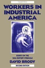 Workers in Industrial America: Essays on the Twentieth Century Struggle, David B