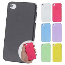 UltraSlim Case iPhone 4 4S FeinMatt Schutz Hülle Bumper Skin Cover Schale Folie