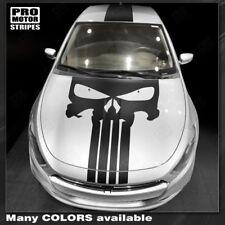 Dodge Dart 2013-2017 Punisher Style Skull Hood&Top Stripes Decals (Choose Color)