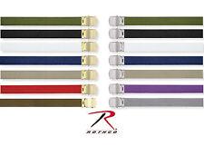 """Military Color 100% Cotton Web Uniform Belt 54"""" Many Colors Chrome & Gold Buckle"""
