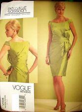 Vogue 1108 Pattern Bellville Sassoon Off Shoulder Dress 4-6-8-10 OR 12-14-16-18
