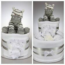 UNISEX BOY GIRL NAPPY CAKE WITH ZEBRA NEWBORN BABY SHOWER GIFT MATERNITY LEAVE