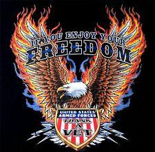 ENJOY YOUR FREEDOM - THANK A VETERAN ARMY NAVY MARINE AIR FORCE T-SHIRT 580