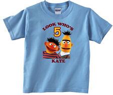 Personalized Custom Sesame Street Bert and Ernie Birthday Shirt Gift