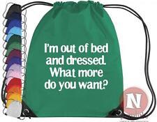 I'm no pasará de moda cama y vestido bolsa elástico Gimnasio actividades escuela