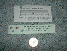 Miller Herald King decals HO L-21 Northwestern Green Yellow Slug Booster  A51