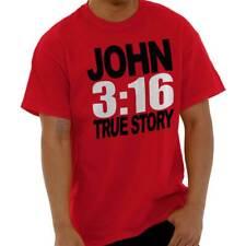 35d46217 Men Women John 3:16 True Story Christian Jesus Christ Religious God T Shirt  Tee