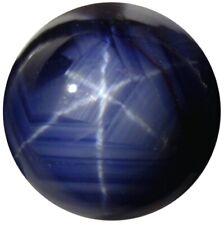 Natural Fine Medium Deep Blue Star Sapphire - Round Cabochon - Unheated, Untreat