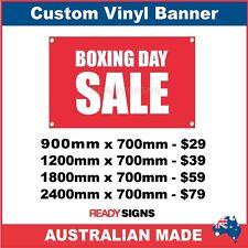 BOXING DAY SALE - CUSTOM VINYL BANNER SIGN - Australian Made