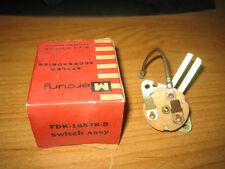 NOS 1955 Mercury Heater Switch FDK-18578-B