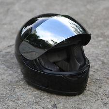 Mirror Shield Gloss Black Full Face Motorcycle Street Helmet DOT S M L XL XXL