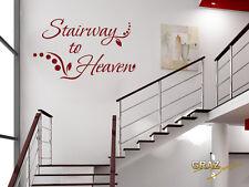 Wandtattoo Wandaufkleber Schriftzug Stairway to Heaven mit Punkten Treppe