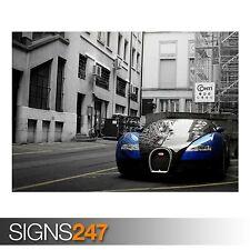 BUGATTI VEYRON CITY (AB326) CAR POSTER - Photo Picture Poster Print Art A0 to A4