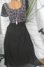 Sheego Kleid Jerseykleid Gr 40-50 blau weiß 349 NEU