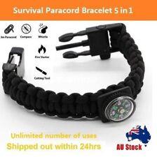 Outdoor Survival Bracelet Fishing Line Hooks Compass Survival Bracelet Tool kit