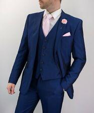 Cavani Ford Men's 3 Piece Navy Slim Fit Suit - Perfect Wedding Suit