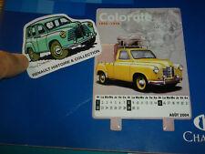 Autocollant Calendrier Renault Prairie Colorale Pick Up