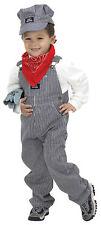 Train Engineer Suit Child Costume Jumpsuit Career Boys Halloween