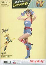 Simplicity 8433 DC Comics Bombshells Stargirl Costume Sewing Pattern UNCUT NEW