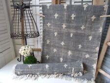 Teppich Läufer USED Grau Creme Webteppich in 2 Größen Landhaus Shabby Vintage