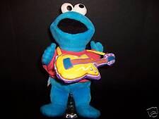 Plush Cookie Monster Guitar Sesame Street Muppet Toy