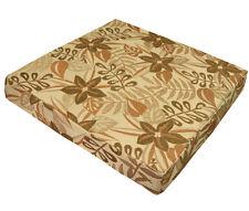 wf06t Beige Olive Jungle Leaf Flower 3D Box Shape Sofa Seat Cushion Cover*Size
