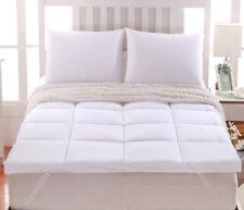 "2"" Thick Comfort Mattress Topper 100% Cotton Shell,White Alternative Down fill"