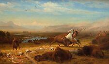 "Albert Bierstadt : ""The Last of the Buffalo"" (1888) — Giclee Fine Art Print"