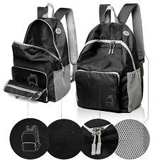 Genuine Quality Classic Black Folding Travel Laptop Backpacks School Bookbags