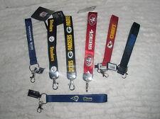 NFL Wristlet Short Lanyard Keychain TEAM COLOR Official licensed